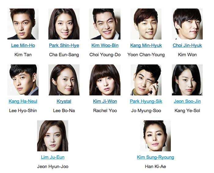 The Heirs cast